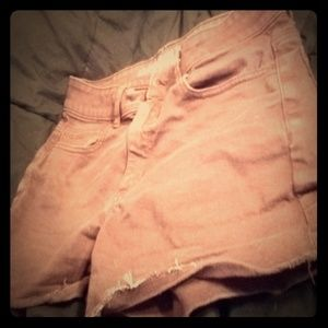 Maroon american eagle outfitters shorts